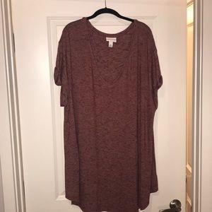 Lightweight sweater short sleeve tunic